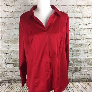 Lane Bryant red blouse